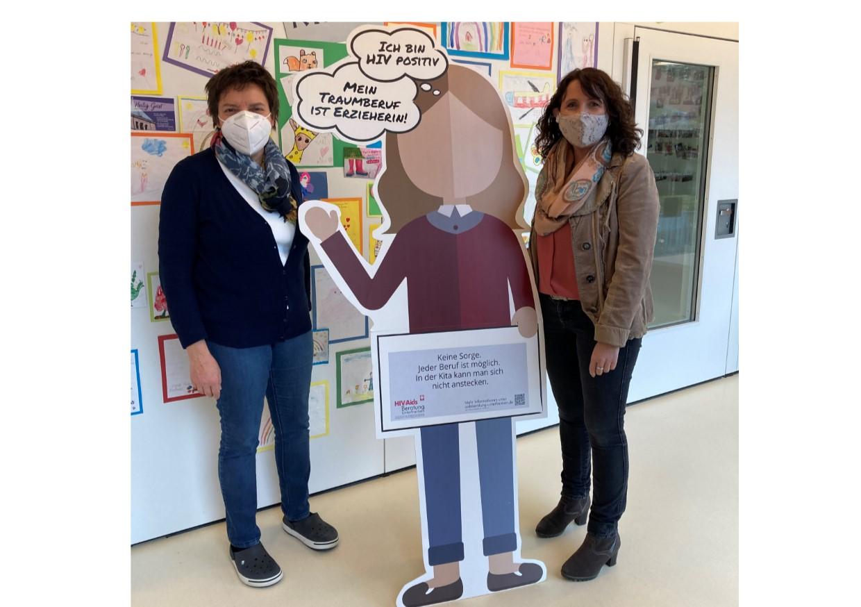 Aktion zum Welt-Aids-Tag 2020 in Schweinfurt
